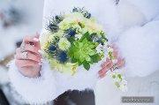 Bukiet ślubny, kompozycja zimowa